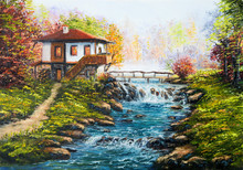 Original Oil Painting Showing ...