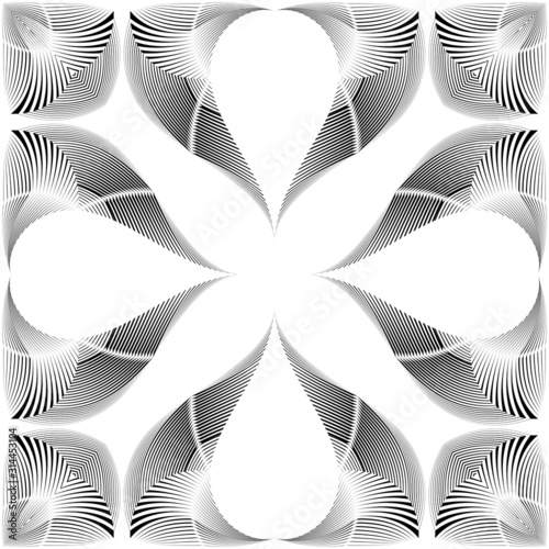 geometric-seamless-pattern-abstract-halftone-lines-floral-background-vector-modern-design-texture