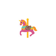 Carousel Horse Vector Isolated...