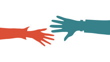 Helping Hands Concept. Two Col...