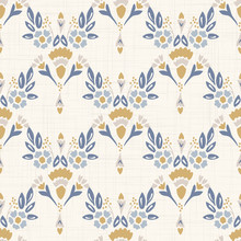 French Shabby Chic Damask Vect...