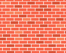 Empty Red Brick Wall Surface For Your Design.