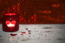 Valentine's Day Concept. Candl...
