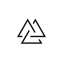 Viking Valknut Simple Icon. Cl...