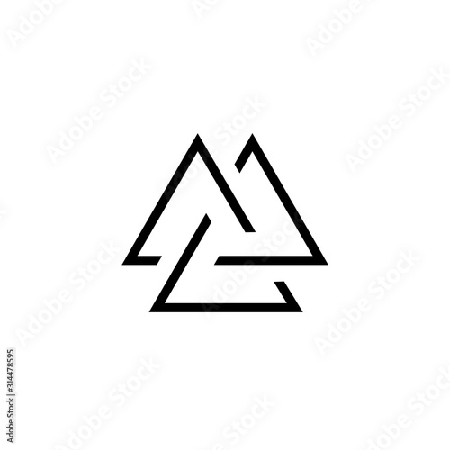 Photo  Viking Valknut simple icon