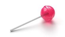 Sweet Pink Lollipop On Stick