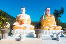 Two Giant Buddhist Statues The...