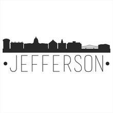 Jefferson City Missouri. City Skyline. Silhouette City. Design Vector. Famous Monuments.