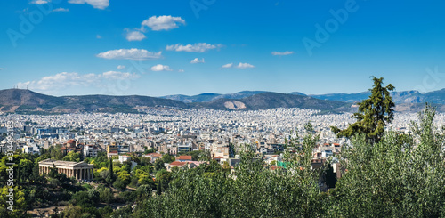 City of Athens as seen from Lycabettus hill, Attica, Greece Canvas Print