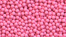 Pink Candy Balls. Realistic Vector Background