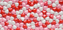 Valentine's Hearts Background Of Candy Valentines Hearts
