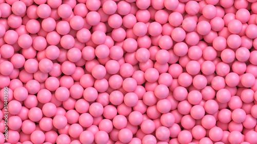 Fotografia Pink candy balls. Realistic vector background