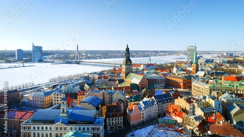 Obraz city of Riga, Latvia - fototapety do salonu