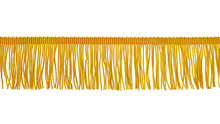 The Fringe Is Yellow. Isolated On A White Background. Decor, Design, Decoration, Texture.