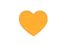 Оne Felt Orange Heart On A Wh...