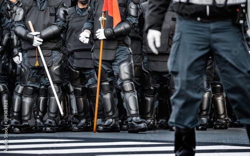 Fotografía 街の平和を守る警察の機動隊