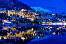 View Of St. Moritz In Switzerl...