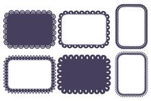 Vector Rectangular Label Set