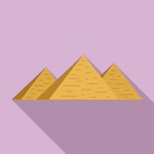 Egypt Pyramids Icon. Flat Illu...