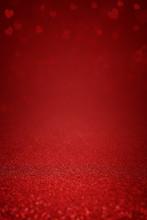 Sparkling Deep Red Glitter Bac...