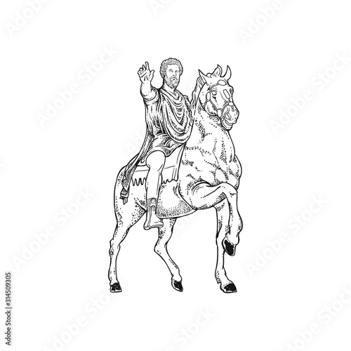 Fotografía roman emperor diplomat vector drawing