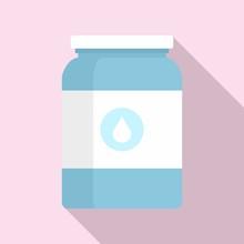Milk Jar Icon. Flat Illustrati...