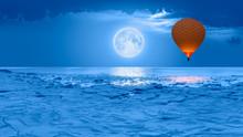 Hot Air Balloon Flying Over Fr...