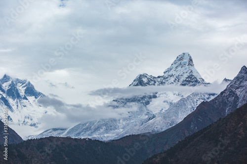 Ama Dablam mount. Nepal, Sagarmatha National Park Wallpaper Mural
