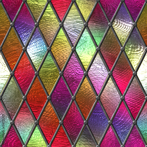 witraz-bezszwowa-tekstura-barwiony-szklo-z-rhombus-wzorem-dla-okno-3d-ilustracja