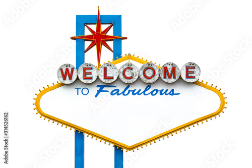 Empty Welcome to Fabulous Las Vegas Sign Wallpaper Mural