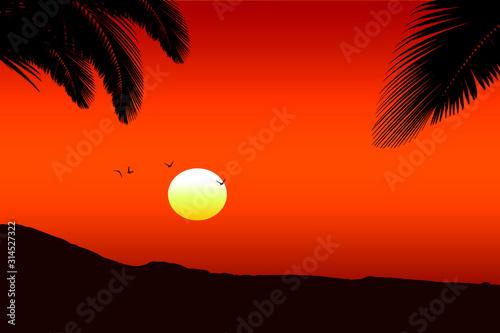 Obraz Hawaiian sunset - fototapety do salonu