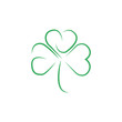 Clover vector logo icon design template element. Business icon for a company isolated on white background. Happy St. Patrick's Day icon.
