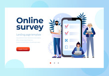 Online Survey Vector Illustrat...
