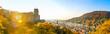 Ausblick auf das Schloss und die Alte Brücke, Heidelberg, Deutschland