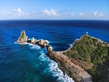 Chateaux Rocks In Guadeloupe