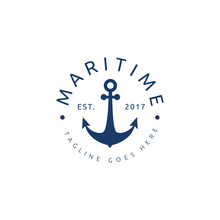 Nautical Marine Logo Icon Vect...