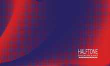 Halftone Background Design Wit...
