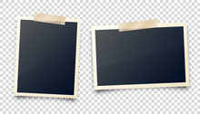 Realistic Blank Photo Card Fra...