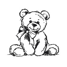 Bear Sketch For Baby