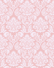 Gorgeous And Retro Design Damask Pattern Background Material, Red, Graphic Material, Vector Data