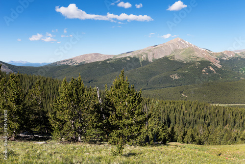 Mount Silverheels which is 13,776 feet rises above South Park Colorado Canvas Print