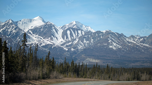 St Elias Mountains and Alaska Highway - Yukon Territory, Canada