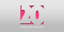 20 Years Anniversary Vector Ic...