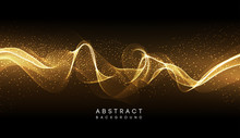Abstract Shiny Color Gold Wave...