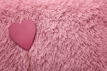 Pink Heart On A Fluffy Backgro...