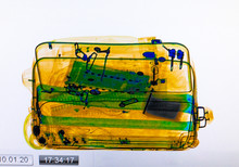 Scanned Baggage On The X-ray S...