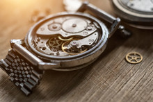 Disassembled Mechanical Watches, Close Up
