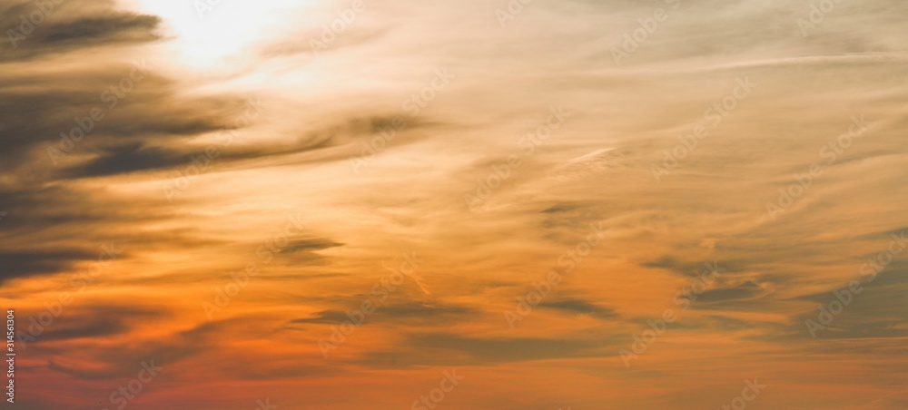 Fototapeta A drmamtic sky overlay