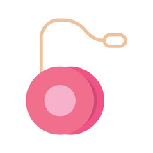 Isolated Pink Yo-yo Icon