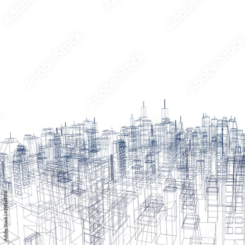Render city illustration